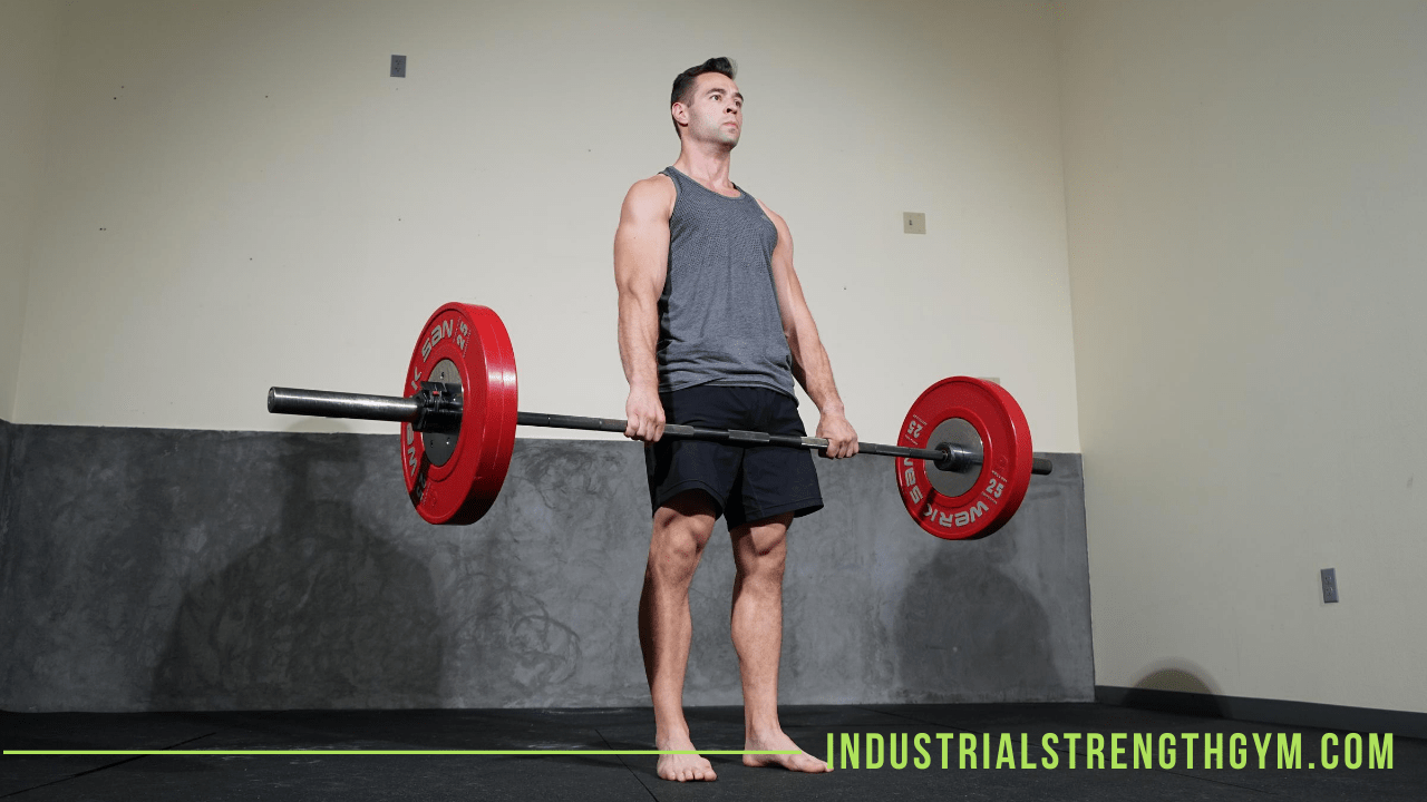 Man holding barbell weight