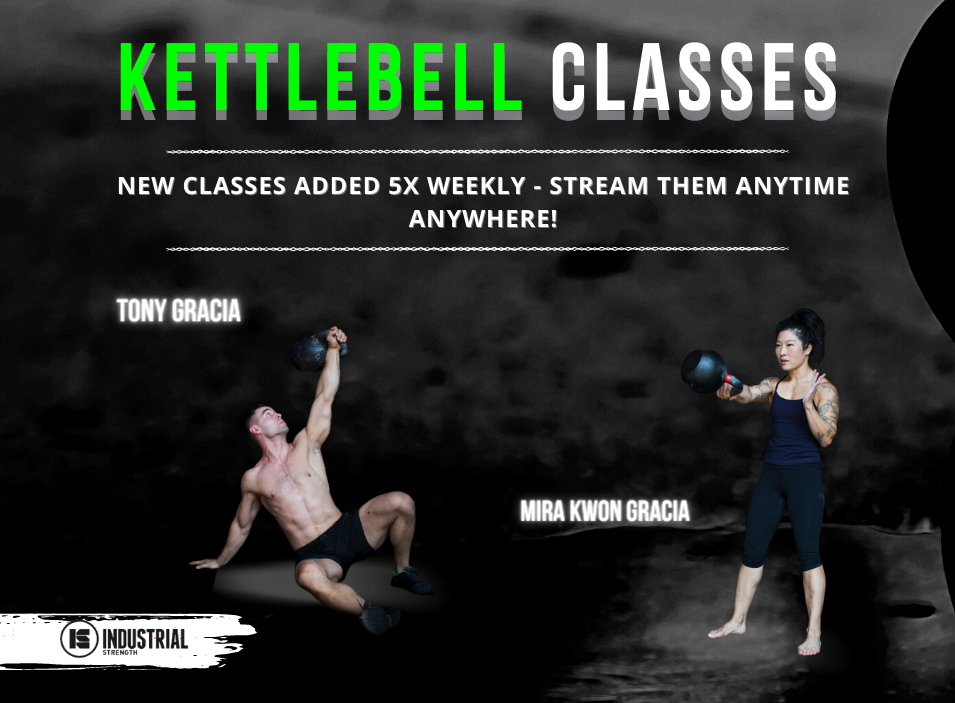 Kettlebell classes, new classes added 5 times weekly, stream them anytime anywhere