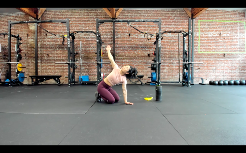 Woman doing mobility